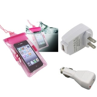 INSTEN Waterproof Bag/ Chargers for Motorola Droid RAZR XT912/ XT916