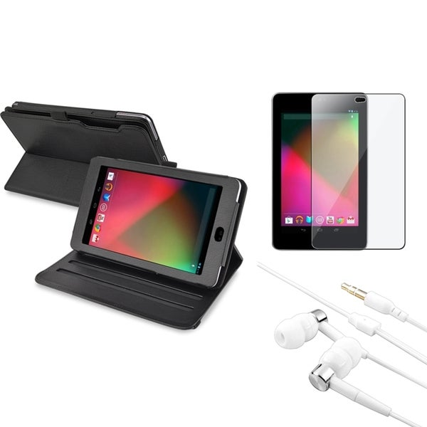 BasAcc Swivel Case/ Headset/ Screen Protector for Google Nexus 7