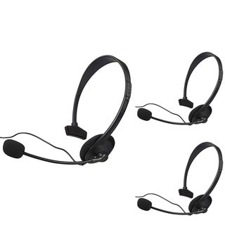 INSTEN Black Headset with Microphone for Microsoft xBox 360/ XBox Slim