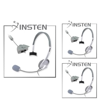 INSTEN White Game Headset with Microphone for Microsoft xBox 360
