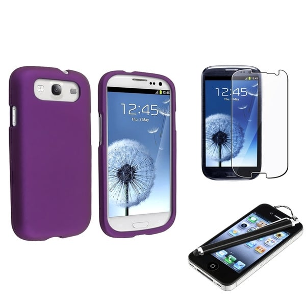 BasAcc Purple Case/ Protector/ Stylus for Samsung© Galaxy S III/ S3