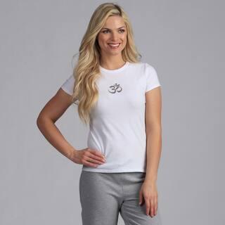 Yogacara White 'Om' T-shirt https://ak1.ostkcdn.com/images/products/7577833/7577833/Yogacara-White-Om-T-shirt-P15005556.jpg?impolicy=medium