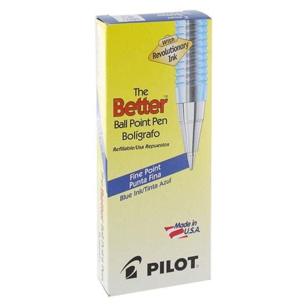 Pilot Better Fine Point Ballpoint Pens (Pack of 12)