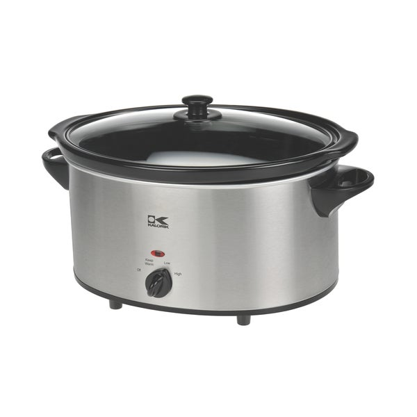 Kalorik 6-quart Stainless Steel Oval Slow Cooker