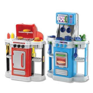Amloid 2-in-1 Cookin' Kitchen and Grilling BBQ Grill Playset