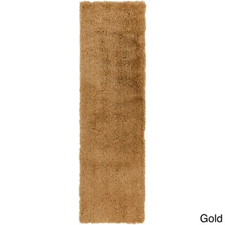 Hand-woven Fannett Soft Shag Rug (2'3 x 8)
