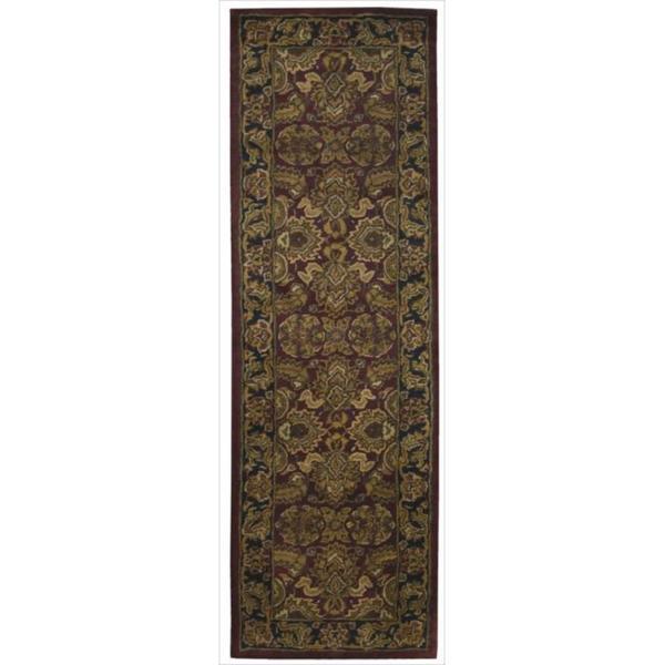 Hand-tufted Jaipur Dark Red Rug (2'4 x 8')