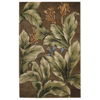 Hand-tufted Tropical Khaki Rug