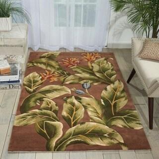 Hand-tufted Tropical Khaki Rug