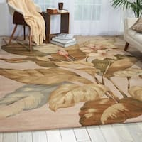 Hand-Tufted Tropical Beige Rug