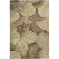 Hand-Tufted Tropical Brown Green Rug