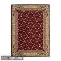 Ashton House Sienna Red Wool European Motif Rug