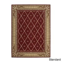 Ashton House Sienna Red Wool European Motif Rug