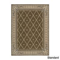 Ashton House Mink Floral Wool Rug