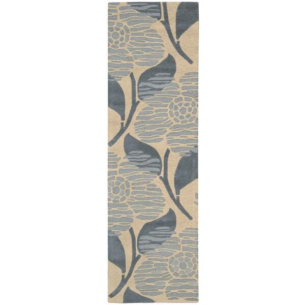 Skyland Floral Beige Wool Rug