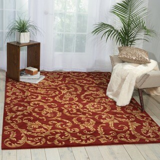 Ashton House Sienna Red Wool Rug