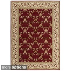 Ashton House Burgundy Wool Classic Motif Rug