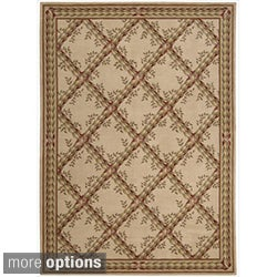 Ashton House Beige Classical-Motif Traditional Wool Rug