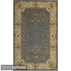 Ashton House Blue and Beige Classical Motif Wool Rug