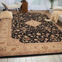 Hand-tufted Heritage Hall Black Wool Rug