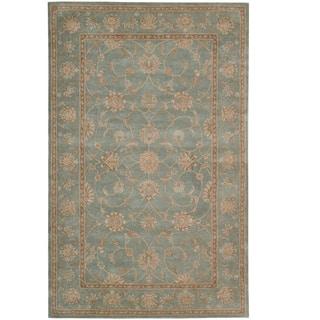 Traditional Hand-Tufted Heritage Hall Aqua Wool Rug (Option: 12' X 15') https://ak1.ostkcdn.com/images/products/7578385/P15006027.jpg?impolicy=medium