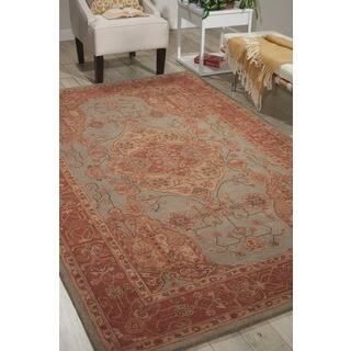 Hand-tufted Heritage Hall Aqua Wool Rug (Option: 9' X 9')|https://ak1.ostkcdn.com/images/products/7578386/P15006028.jpg?impolicy=medium