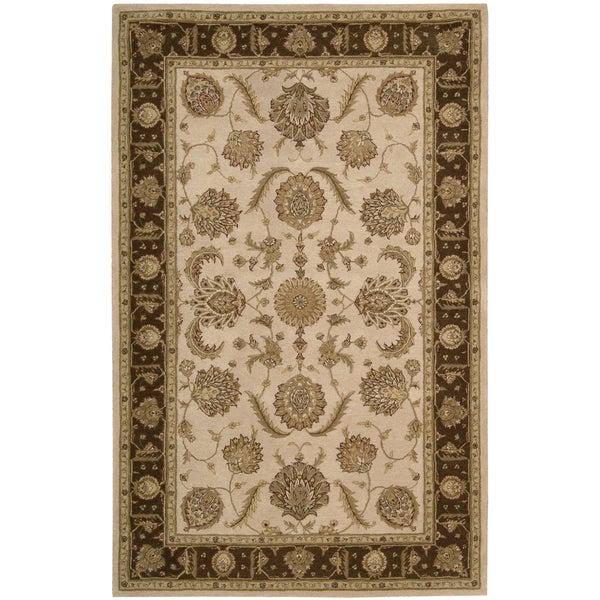 Hand-Tufted Heritage Hall Beige Indoor Wool Rug