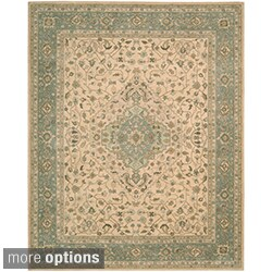 Hand-tufted Heritage Hall Beige Green Rug