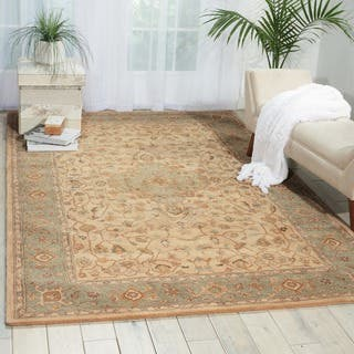 Hand-tufted Heritage Hall Beige Green Rug https://ak1.ostkcdn.com/images/products/7578395/P15006036.jpg?impolicy=medium