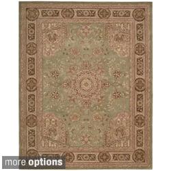 Hand-tufted Heritage Hall Green Wool Rug (Option: 12' X 15') https://ak1.ostkcdn.com/images/products/7578406/Hand-tufted-Heritage-Hall-Green-Wool-Rug-P15006041c.jpg?impolicy=medium