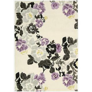 Hand-tufted Wildflower Ivory/ Lilac Wool Blend Rug