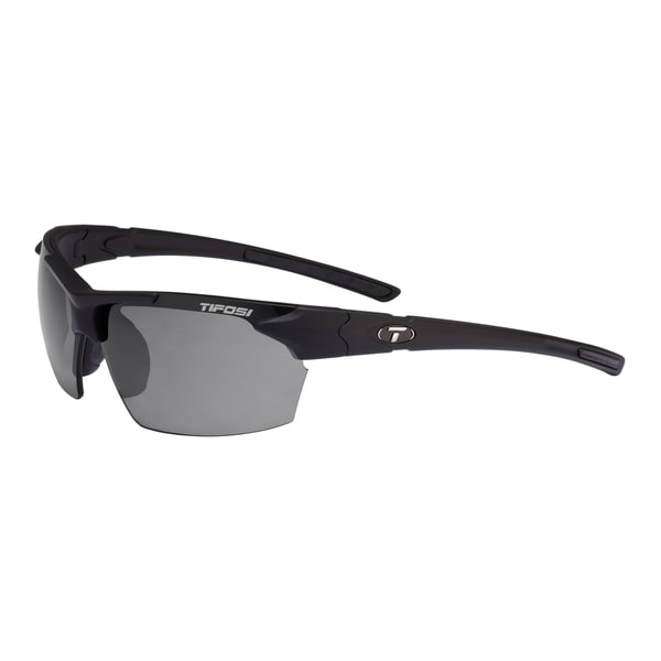 Tifosi Glasses Jet Matte Black with Smoke Polarized Lens