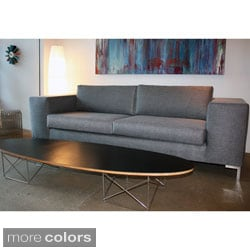 Decenni Custom Furniture 'Otto' Bergamo Licorice Modern 6-foot Loveseat