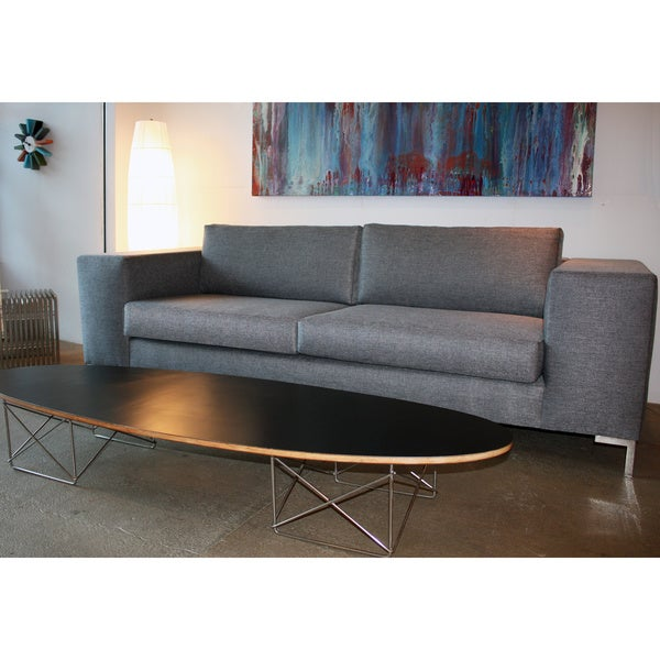 Decenni Custom Furniture 'Otto' Bergamo Licorice Modern 6-foot Loveseat