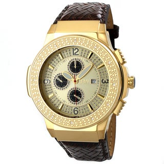 JBW Men's Stainless Steel 'Saxon Gold' Diamond Watch