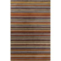Allie Handmade Stripes Wool Rug - multi - 5' x 7'6