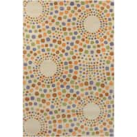 Allie Handmade Feometric Wool Rug - 5' x 7'6