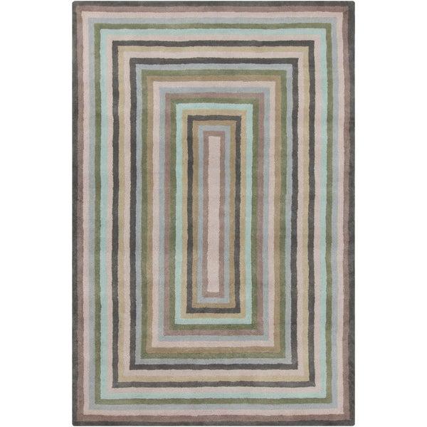 Allie Handmade Geometric 100-Percent Wool Rug - 5' x 7'6