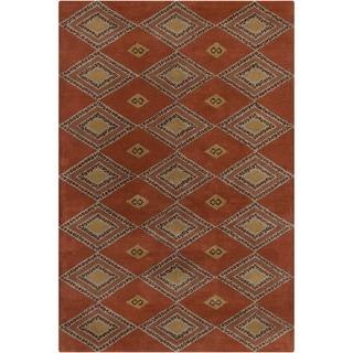 Allie Handmade Abstract 100 Percent Wool Rug (5' x 7'6)