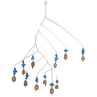 Handmade Noah Bells on the Move Blue Wind Chime (India)