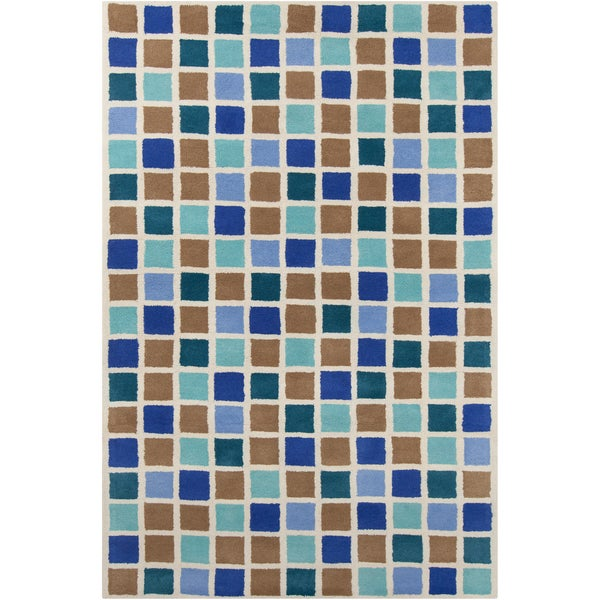 Handmade Allie Mosaic Wool Rug - multi - 5' x 7'6