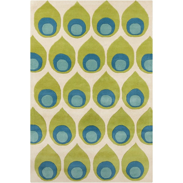 Allie Handmade Abstract Wool Rug - 5' x 7'6