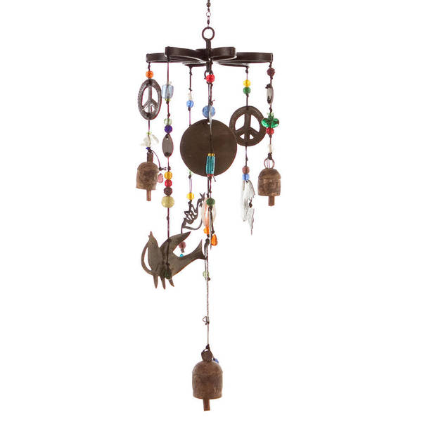 Handmade Peace is All We Want Wind Chime (India)