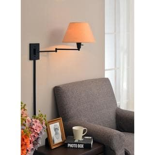 Design Craft Tustin Matte Black Wall Swing Arm Lamp