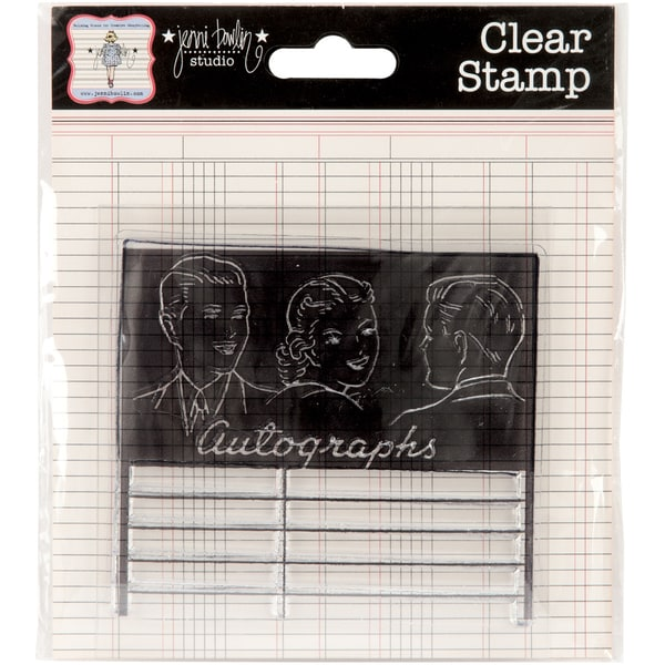 "Clear Acrylic Stamps-Autographs 3""X2.625"""