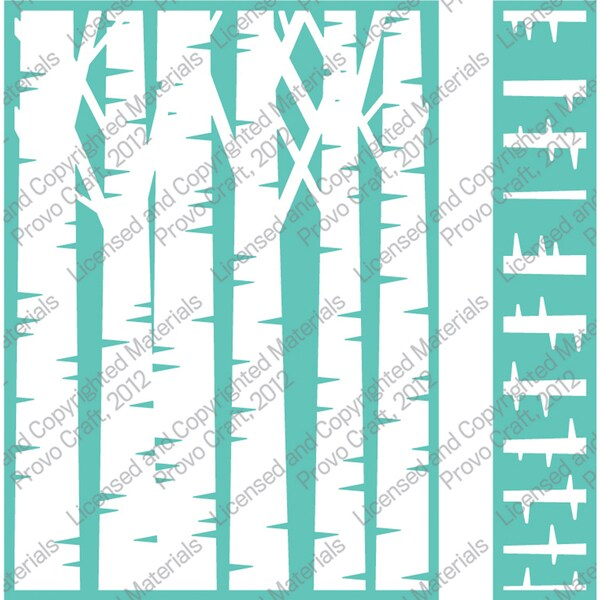 "Cuttlebug 5""X7"" Embossing Folder/Border Set-Birch Tree"