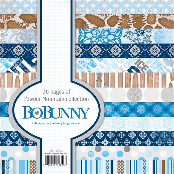 "Powder Mountain Paper Pad 6""X6"" 36 Sheets-"