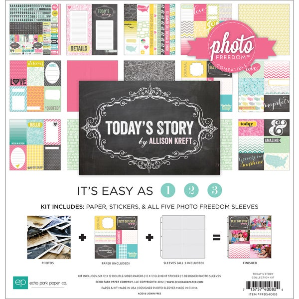"Photo Freedom Today's Story Collection Kit 12""X12""-"
