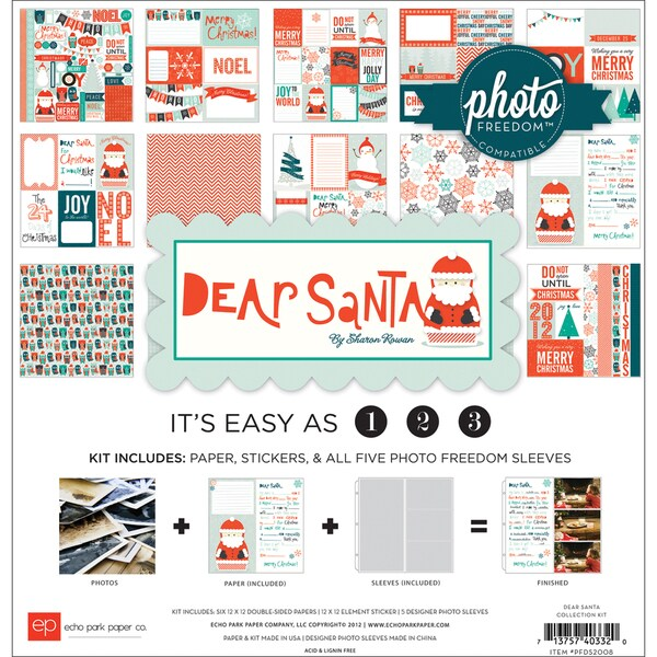 "Photo Freedom Dear Santa Collection Kit 12""X12""-"