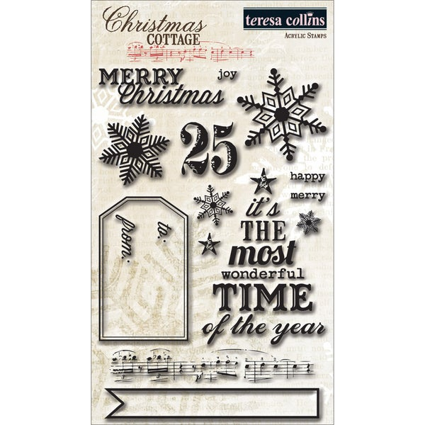 Christmas Cottage Acrylic Stamps-